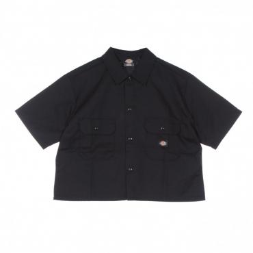 camicia manica corta donna work shirt w BLACK