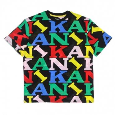maglietta uomo retro logo tee BLACK/MULTI