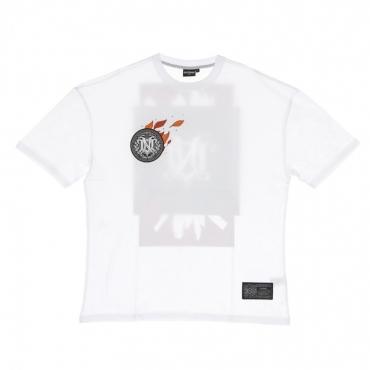 maglietta uomo autunno oversize tee WHITE