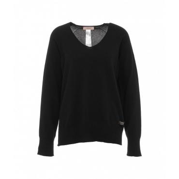 Maglione con misto lana nero