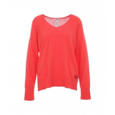 Maglione con misto lana rosso