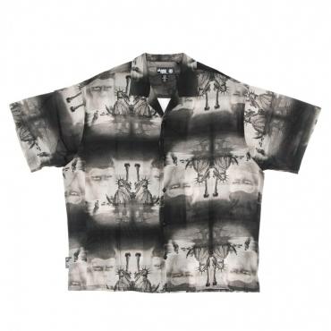 camicia manica corta uomo pota paradise shirt OFF BLACK