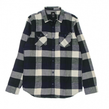 camicia manica lunga uomo box flannel shirt DRESS BLUES/SCARAB