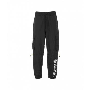 Pantalone in nylon nero