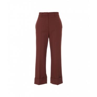 Pantalone a sigaretta marrone