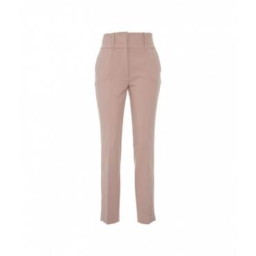 Pantalone in tessuto tecnico rosa antico