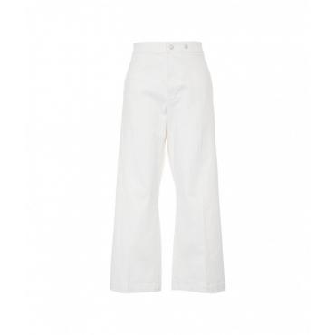 Pantalone con gamba larga panna