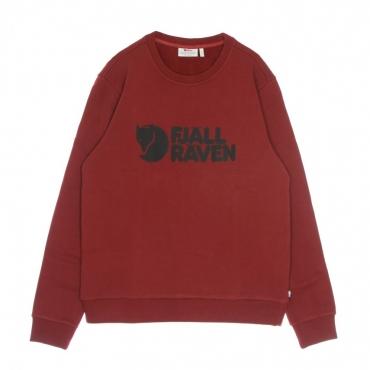 felpa girocollo uomo fjallraven logo sweater m RED OAK