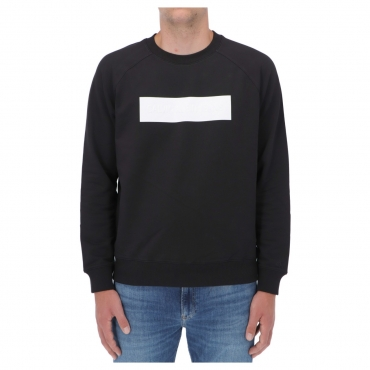 Felpa Calvin Klein Jeans Uomo Blocking Logo Crew Neck BEH CK BLACK