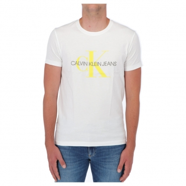 Tshirt Calvin Klein Jeans Uomo Seasonal Monogram Tee 0K8 WHITE SUN