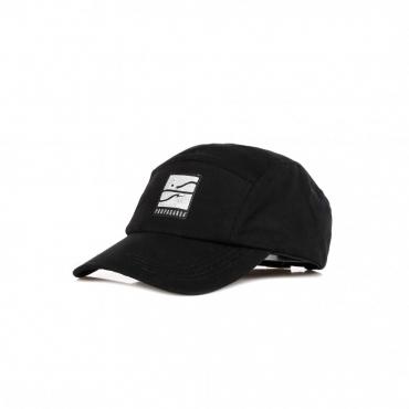cappellino visiera curva uomo blank 5panel BLACK