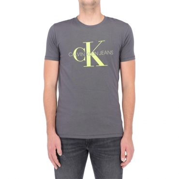 Tshirt Calvin Klein Jeans Uomo Seasonal Monogram Tee PCK GRAY LIME
