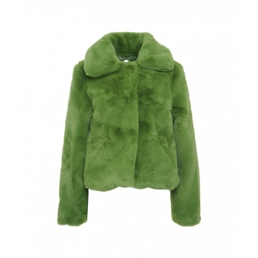 Eco pelliccia cropped Tommy verde