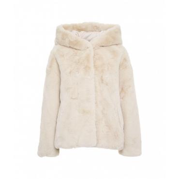 Eco pelliccia oversize Daisy crema
