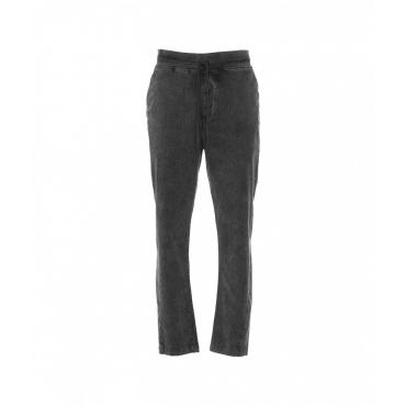 Pantaloni in velluto a coste grigio