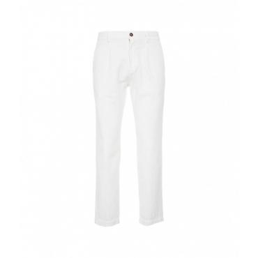 Pantaloni in velluto a coste SLorenzo bianco