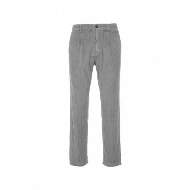 Pantaloni in velluto a coste SLorenzo grigio chiaro
