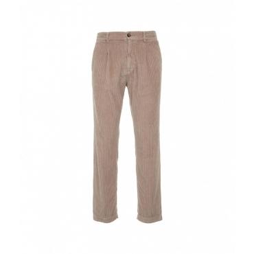 Pantaloni in velluto a coste SLorenzo marrone chiaro