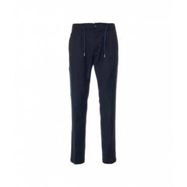 Pantaloni in lana vergine blu