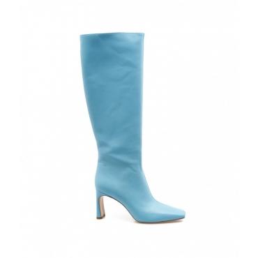 Stivali con tacco Squared Liu Jo X Leonie Hanne blu royal