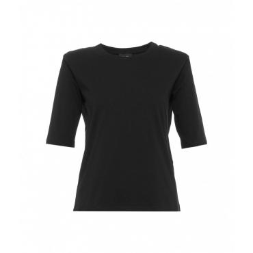 T-shirt con dettaglio di catena nero