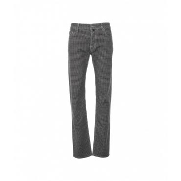 Pantaloni con motivo a quadri grigio scuro