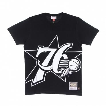 maglietta uomo nba big face 30 tee hardwood classics phi76e BLACK