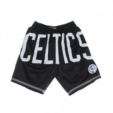 pantaloncino tipo basket uomo nba big face 30 fashion short hardwood classics boscel BLACK/ORIGINAL TEAM COLORS