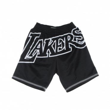 pantaloncino tipo basket uomo nba big face 30 fashion short hardwood classics loslak BLACK/ORIGINAL TEAM COLORS