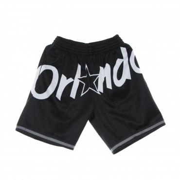 pantaloncino tipo basket uomo nba big face 30 fashion short hardwood classics orlmag BLACK/ORIGINAL TEAM COLORS