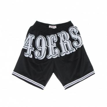 pantaloncino tipo basket uomo nfl big face 30 fashion short saf49e BLACK/ORIGINAL TEAM COLORS