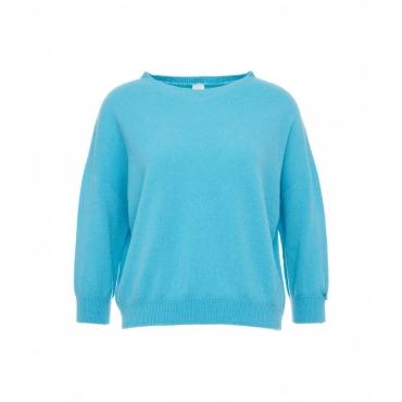 Maglia in cachemire blu