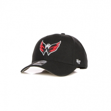 cappellino visiera curva uomo nhl mvp wascap BLACK