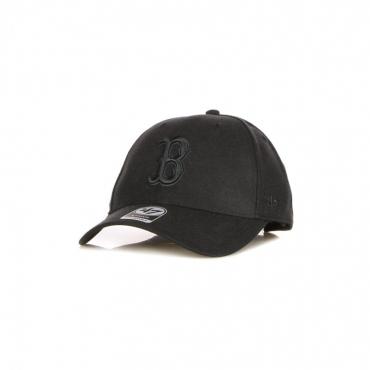 cappellino visiera curva uomo mlb mvp snapback bosred BLACK/BLACK