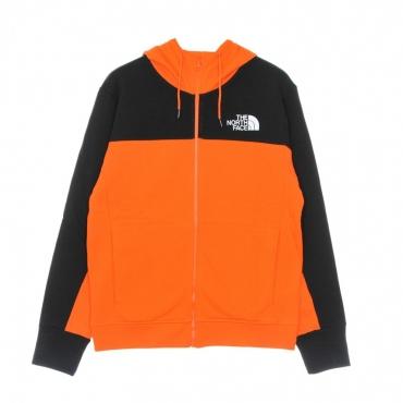 felpa cappuccio zip uomo himalayan full zip hoodie RED ORANGE