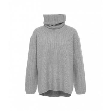 Maglione con collo rimovibile grigio