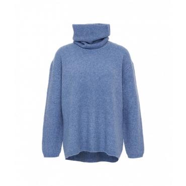 Maglione con collo rimovibile azzurro