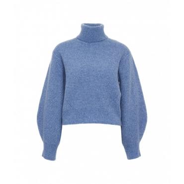Maglione cropped azzurro