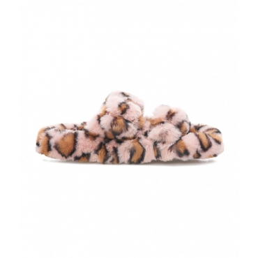 Ciabatte con stampa animalier pink