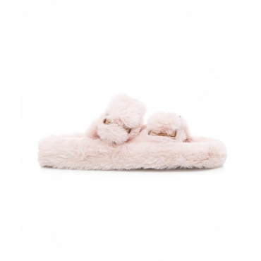 Pantofole in eco-pelliccia pink