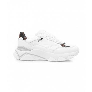 Sneakers con dettagli logo bianco
