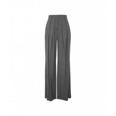 Pantalone con pieghe grigio