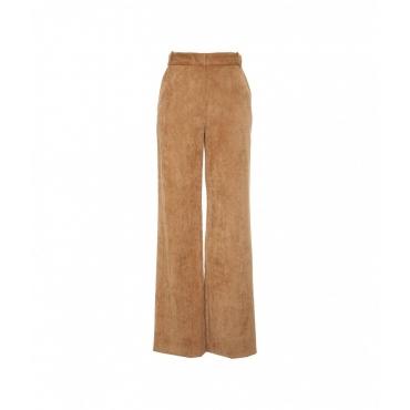 Pantaloni in velluto a coste fini Cammello