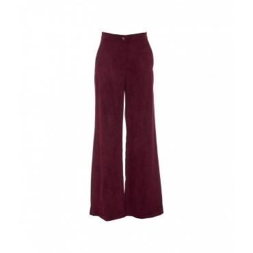 Pantalone in velluto a coste bordeaux