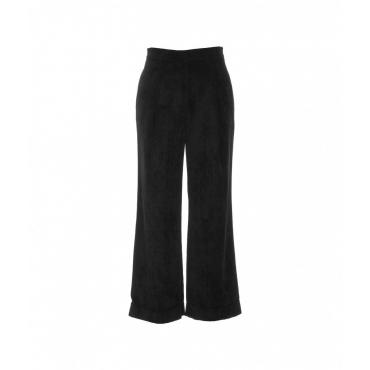 Pantalone in velluto a costine nero
