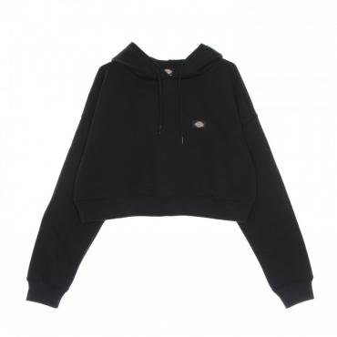 felpa cappuccio corta donna oakport cropped hoodie BLACK