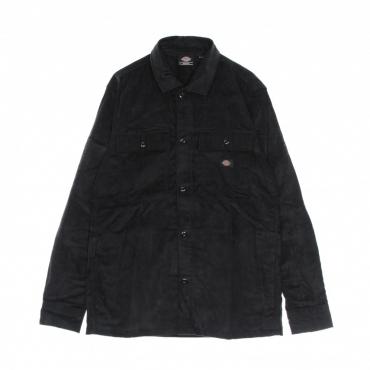 camicia manica lunga uomo higginson l/s shirt BLACK