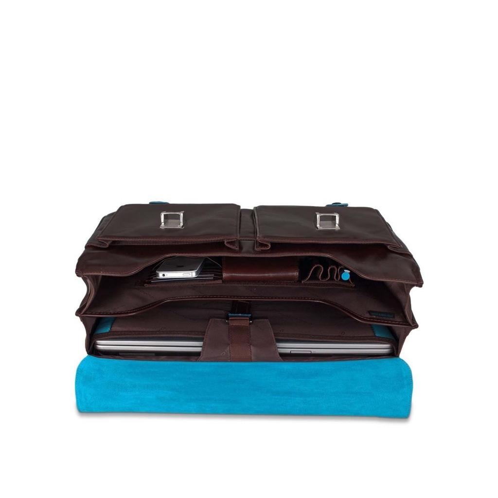 Cartella porta computer in pelle marrone UNICO