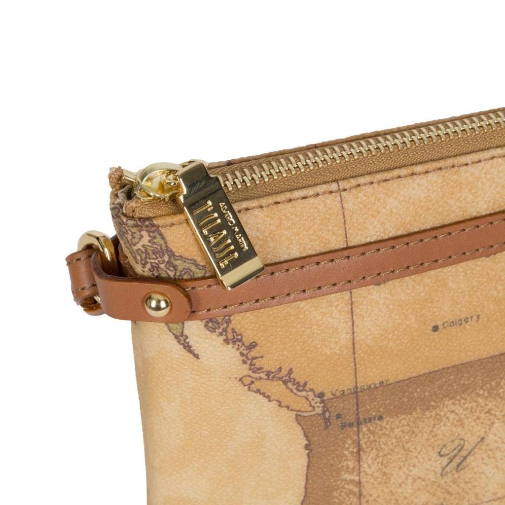 Pochette con cinturino marrone Geo Classic UNICO