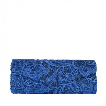 Pochette con ricamo in pizzo blu BLUE BLUE